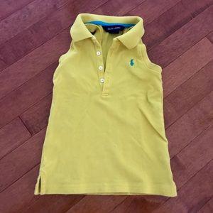 Ralph Lauren yellow sleeveless shirt. size kids 5.